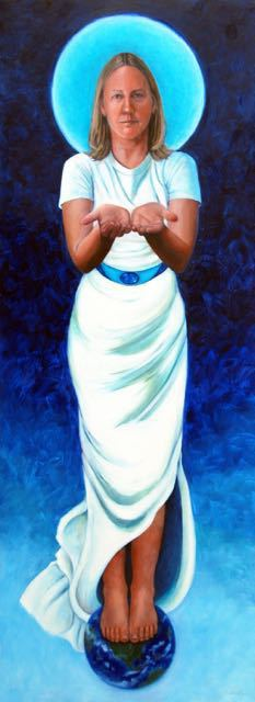 Goddess of Charity-oil-80x30-$3,800