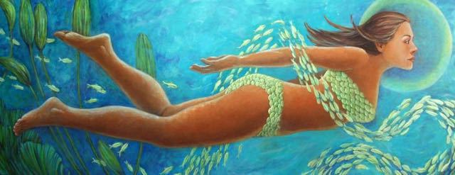 Goddess of the Sea, 30x80, $3,800